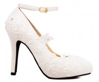 (Sold out, custom made is available)* Elsa Ivory White Lace Wedding Shoes (Ready Stock)