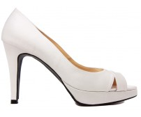 Adrianna Ivory White Satin Wedding Shoes