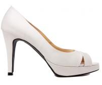 Adrianna Ivory White Satin Wedding Shoes