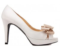 Rylie Ivory White Satin Wedding Shoes