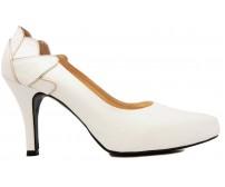 April White Luzzi Glitter Wedding Shoes