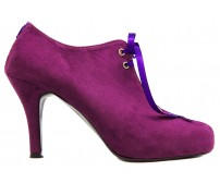 Rebecca Purple Suede Ankle Boots