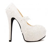 * Elsa Ivory White Swarovski Rhinestone Wedding Shoes