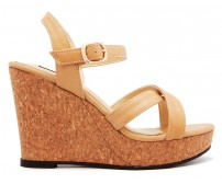 Layla Brown PU Wedges
