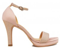 Celia Nude Pink Satin Wedding Sandals