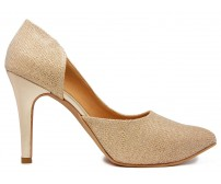 Eva Gold Glitter Dinner Shoes