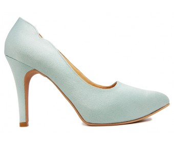 Charlotte Baby Blue Satin Wedding Shoes
