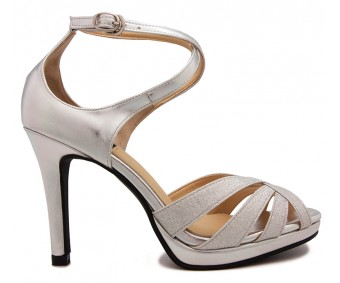 Hannah Silver Glitter Wedding Sandals