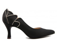 April Black PU Dinner Shoes