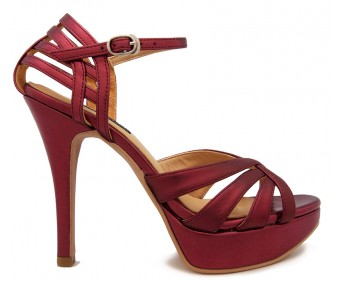 Hany Maroon Glitter Soft Dinner Sandals