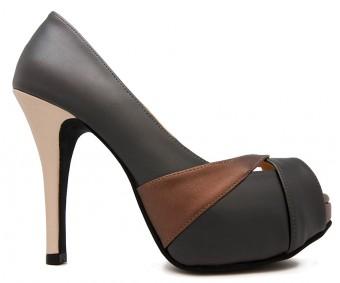 Abigail Black Multi-Coloured PU Working Shoes