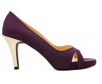 Adriel Purple Silk Gold Casual Shoes