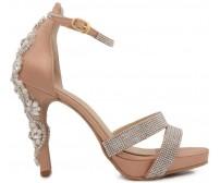 Jadzia Nude Pink With Applique Sandals