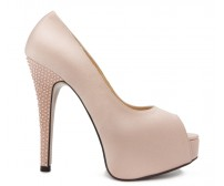 Carla Nude Pink Satin Swarovski Rhinestone Wedding Shoes