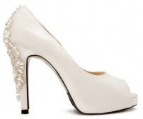 Ada Ivory White Satin Wedding Shoes