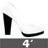 4 Inch (Square Heel)