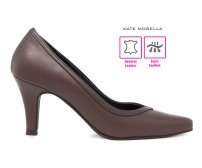 Saviolla Brown Leather Super Comfort Heels (Ready Stock)