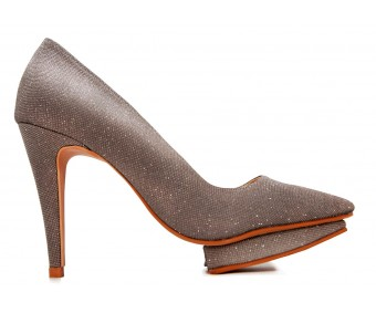 Estelle Gun Metal Glitter Dinner Shoes (Ready Stock)