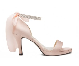 Cecily Nude Pink Satin Wedding Sandals