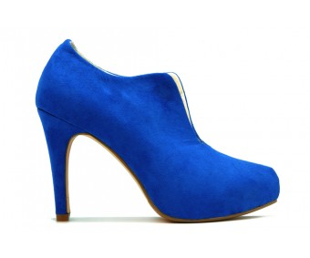 Elise Blue Suede Ankle Boots