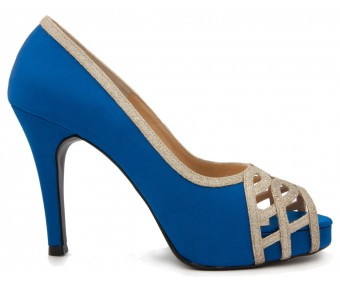 Anisa Blue Satin Wedding Shoes