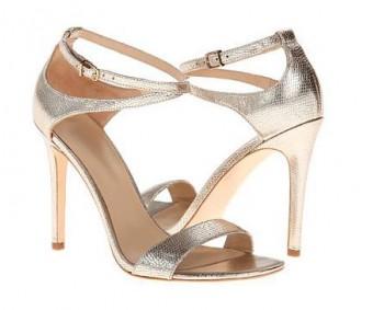 Doris Gold Glitter Wedding Sandals