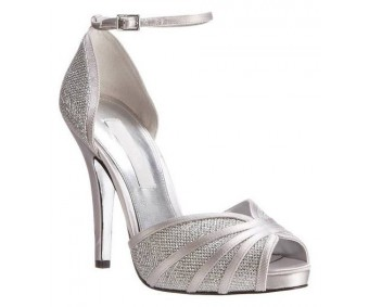 Irish Silver Silk Glitter Wedding Shoes