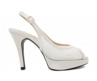 Celestine Ivory White Lace Wedding Shoes