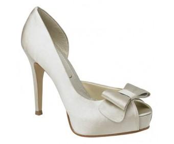 Catherine Ivory White Satin Wedding Shoes