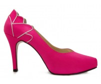 April Fuchsia Satin Silk Wedding Shoes