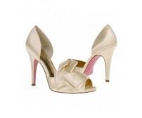Priscilla Champagne Satin Wedding Shoes