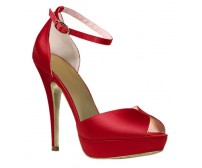 Vanessa Red Satin Dinner Sandals