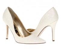Ruby White Glitter Wedding Shoes
