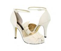 Nova Ivory White Satin Wedding Sandals
