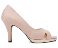 Mindy Nude Pink Satin Wedding Shoes