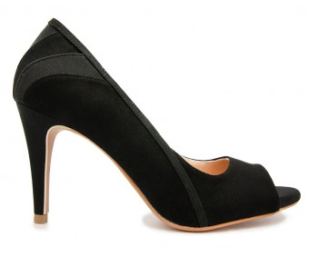 Courtney Black Suede Working Shoes (Ready Stock)