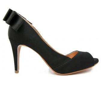 Nicole Black Silk Bow Dinner Shoes (Ready Stock)