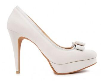 Lola Ivory White Satin Wedding Shoes(Ready Stock)