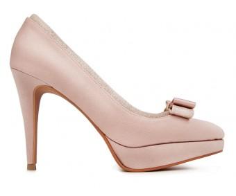 z Lola Nude Pink Satin Wedding Shoes(Ready Stock)