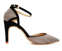 Grace Gun Metal Glitter Contrast Dinner Shoes (Ready Stock)