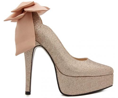98f496e08d3c   Jacqueline Gold Glitter Bow Wedding Shoes