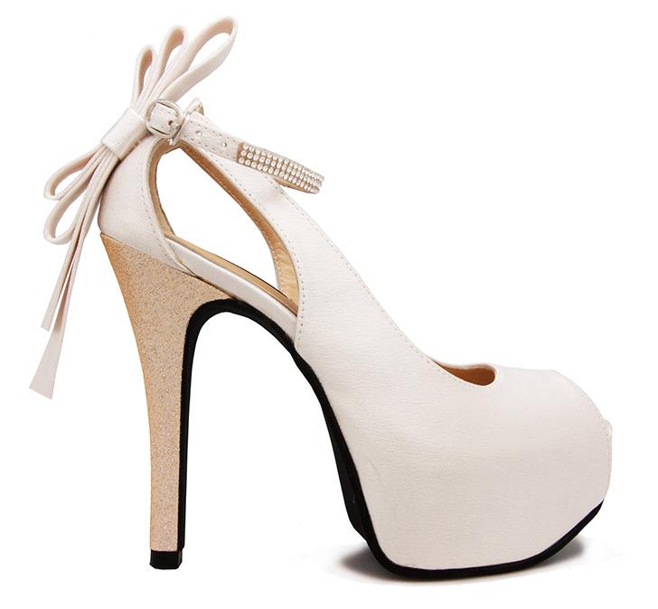 37c4186398e9 Ellen Ivory White Satin Back Bow Wedding Shoes