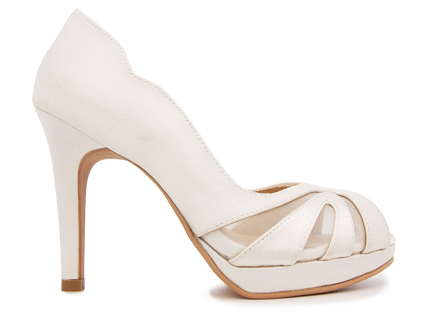 fc38d0beb653 Lauren Ivory White Satin Wedding Shoes